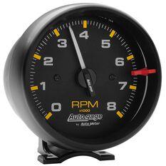 3-3/4 TACH, 8,000 RPM, BLACK BLACK