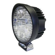 27W LED ROUND WORK LIGHT, 10-30V - FLOOD BEAM 60 DEG.