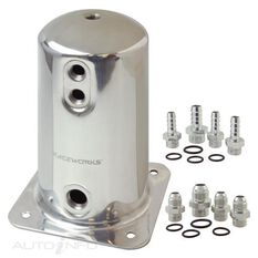 1.5L SURGE TANK AN-8 SINGLE OUTLET POLISHED, , scaau_hi-res
