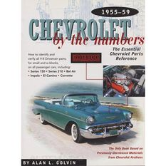 PARTSREF  CHEVROLET BY THE NUMBERS 1955-1959 9780837608754, , scaau_hi-res