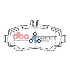DBA SS STREET SERIES BRAKE PADS [ Mercedes Benz A Class 1997 - 2004 F ], , scaau_hi-res