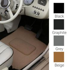 TWO PIECE FRONT & TWO PIECE REAR VOLKSWAGEN POLO 9N HATCH MK4 ROUND EYELETS 03-09 BEIGE, , scaau_hi-res