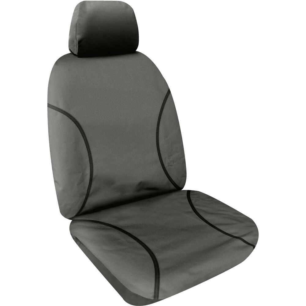 Tradies Canvas Grey Seat Cover Pack Suits Front Row Ford Transit 350e 350l 470e Cab Chassis Or Van Vo 15 Current Supercheap Auto