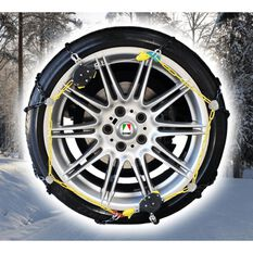 SNOW CHAIN 12MM BLACK CHAIN- NEW SELF TENSION WITH QUICK LOCKING SYSTEM  - SEE FITMENT CHART FOR SIZING