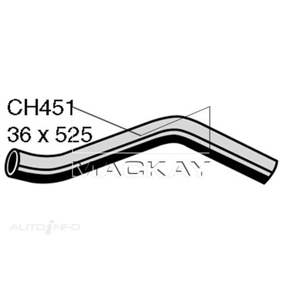 Radiator Upper Hose  - CHEVROLET BEL AIR . - 4.6L V8  PETROL - Manual & Auto, , scaau_hi-res