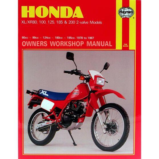 HONDA XL/XR 80, 100, 125, 185 & 200 2-VALVE MODELS 1978 - 1987, , scaau_hi-res