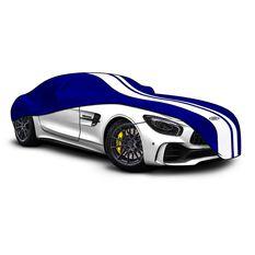 Car Cover Indoor Classic Medium 4.5m Blue With White Stripes, , scaau_hi-res