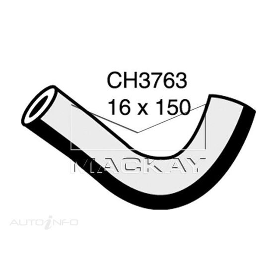 Heater Hose  - MITSUBISHI PAJERO NP - 3.2L I4 Turbo DIESEL - Manual & Auto, , scaau_hi-res
