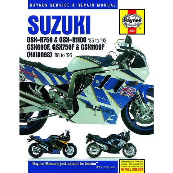SUZUKI GSX-R750, GSX-R1100 (85 - 92), GSX600F, GSX750F, GSX1100F (KATANA) FOURS 1988 - 1996, , scaau_hi-res