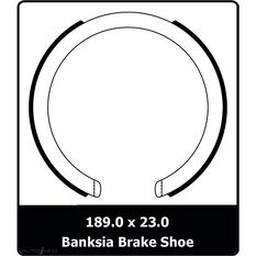 SINGLE SHOE KIT HOLDEN FORD TOYOTA, , scaau_hi-res