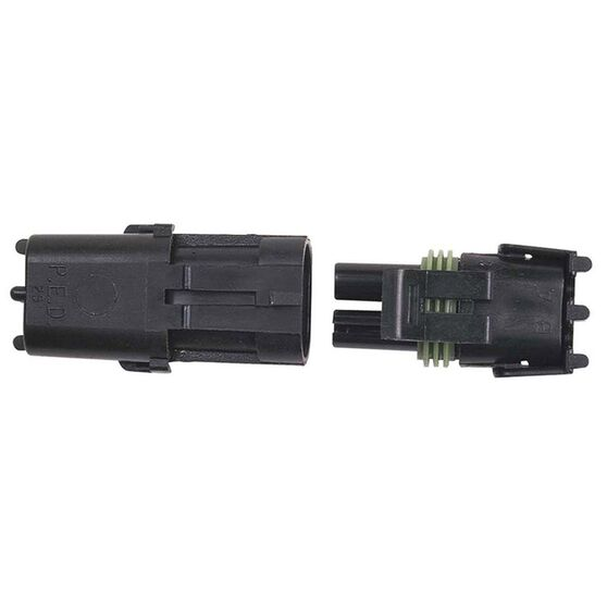 WEATHERTIGHT 2 PIN CONNECTOR MALE/FEMALE, , scaau_hi-res