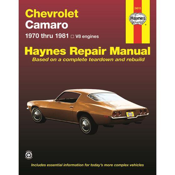 CHEVROLET CAMARO HAYNES REPAIR MANUAL FOR 1970 THRU 1981, , scaau_hi-res