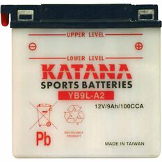 KATANA MOTORCYCLE BATTERY - YB9L-A2, , scaau_hi-res