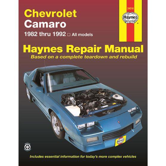CHEVROLET CAMARO HAYNES REPAIR MANUAL FOR 1982 THRU 1992, , scaau_hi-res