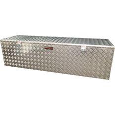THUNDERBOX SINGLE OPENING ALUMINIUM CHECKER PLATE TOOLBOX, , scaau_hi-res