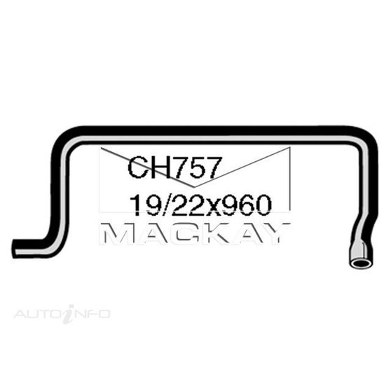 Heater Hose HILLMAN / SINGER / SUNBEAM / TALBOT Hunter and Arrow  HB -HC and HE Series  Heater to Water Pump*, , scaau_hi-res