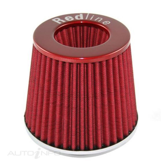 A/FILTER CONICAL TYPE RED 76MM NECK, , scaau_hi-res
