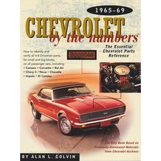 PARTSREF  CHEVROLET BY THE NUMBERS 1965-1969 9780837609560, , scaau_hi-res
