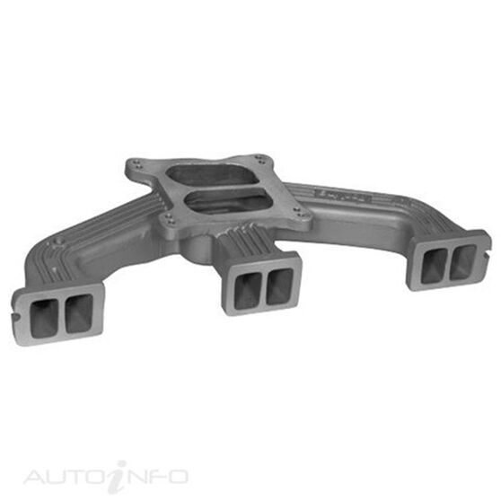MANIFOLD SUIT HOLDEN 6CYL BLUE BLACK TO 4BBL CARBY, , scaau_hi-res
