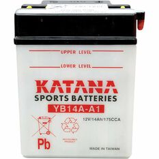 KATANA MOTORCYCLE BATTERY - YB14A-A1, , scaau_hi-res