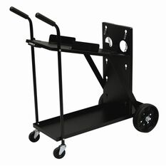 WeldSkill Trolley 4 Wheel Suits E Cylinder & Machine Size: W255xD540