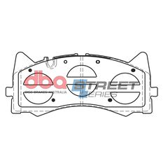 DBA SS STREET SERIES BRAKE PADS [ Mercedes-Benz AMG GT-S R190 / C180 AMG S205 - 2014 & 2017 - On F ], , scaau_hi-res