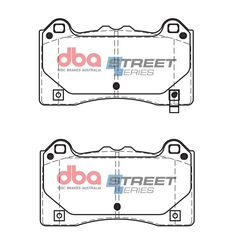 DBA SS STREET SERIES BRAKE PADS [ Ford Focus 2016 - On F ], , scaau_hi-res
