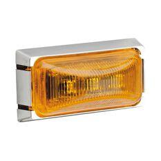 12V LED AMBER CHROME CABIN LMP, , scaau_hi-res