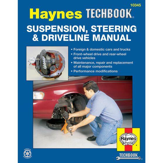 SUSPENSION, STEERING AND DRIVELINE HAYNES TECHBOOK, , scaau_hi-res