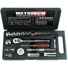 METRINCH 1/4IN &3/8IN DR 25PC SOCKET SET