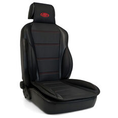 SAAS Seat Sports Cushion Pu Black Large With Logo, , scaau_hi-res