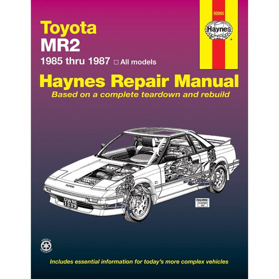 TOYOTA MR2 HAYNES REPAIR MANUAL FROM 1985 THRU 1987, , scaau_hi-res