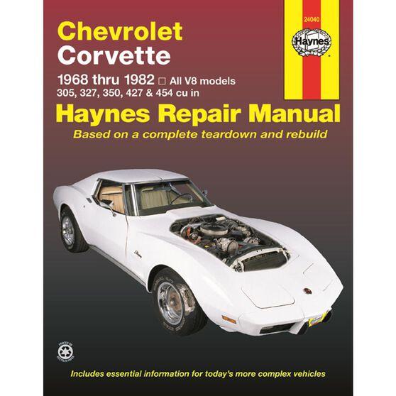 CHEVROLET CORVETTE HAYNES REPAIR MANUAL FOR 1968 THRU 1982, , scaau_hi-res