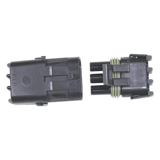 WEATHERTIGHT 3 PIN CONNECTOR MALE/FEMALE, , scaau_hi-res