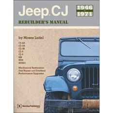JEEP CJ REBUILDERS MANUAL 1946-1971   9780837610375, , scaau_hi-res