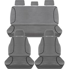 TRADIES CANVAS SEAT COVER TO SUIT: TOYOTA HI-LUX SR5 DUAL CAB 10-10/15