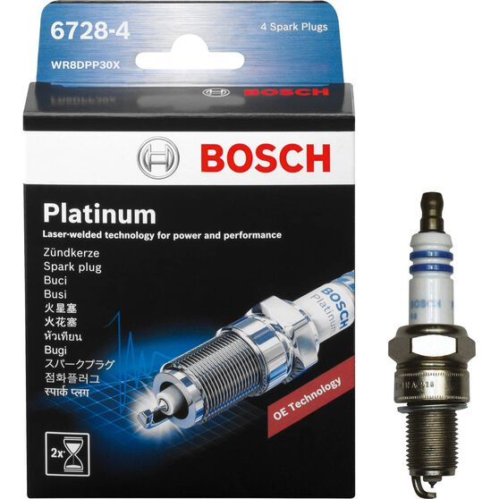 Bosch Platinum Spark Plug, 6728-4, 4 Pack, , scaau_hi-res