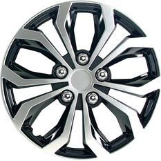 Street Series Wheel Covers - Venom 14in, Black / Silver, 4 Pack, , scaau_hi-res