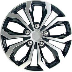 Street Series Wheel Covers - Venom 15in, Black / Silver, 4 Pack, , scaau_hi-res