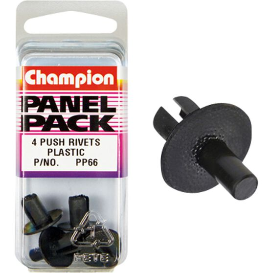 Champion Plastic Push Rivets - PP66, Panel Pack, , scaau_hi-res