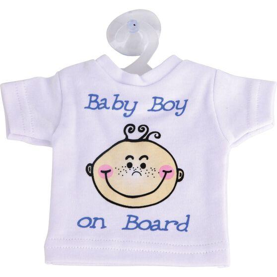 Little Car Baby on Board T-Shirt - Blue