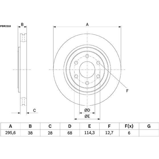 Bosch Disc Brake Rotor - PBR2310, , scaau_hi-res