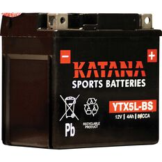 Powersports Battery -  YTX5L-BS, , scaau_hi-res