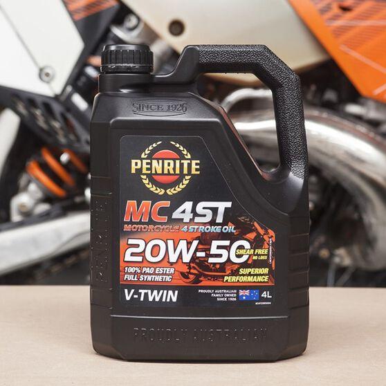 Penrite MC-4 V Twin Motorcycle Oil - 20W-50, 4 Litre, , scaau_hi-res