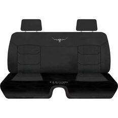 R.M.Williams Woven Ute Seat Cover - Black, Size 202, Front Bench (with cut out), , scaau_hi-res