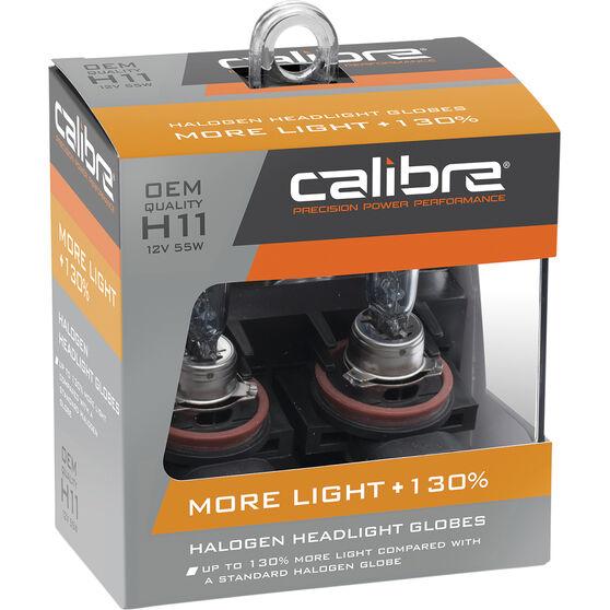 Calibre Headlight Bulb 12v H11 55W Plus 130, , scaau_hi-res