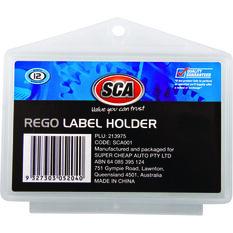 SCA Rego Label Holder - Plastic, Universal, , scaau_hi-res