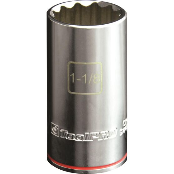 ToolPRO Single Socket - Deep, 1 / 2 inch Drive, 1 1 / 8 inch, , scaau_hi-res