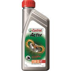 Castrol Activ 4T Motorcycle Oil 15W-50 1 Litre, , scaau_hi-res