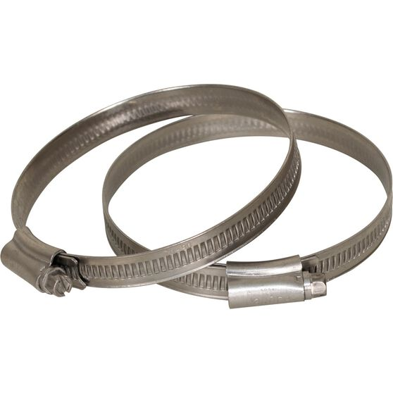 Calibre Hose Clamps - Stainless Steel, Solid Band, 70-90mm, 2 Pieces, , scaau_hi-res